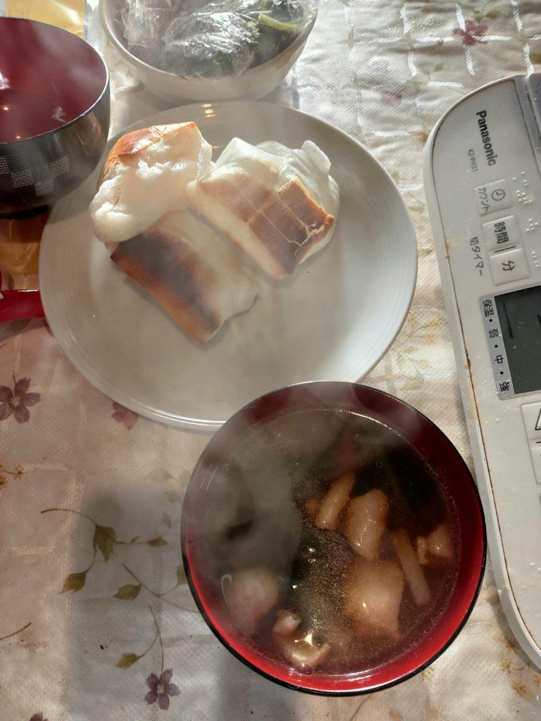 ほとんど食べちゃったので具が少ないお雑煮